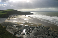 Photo of Southerndown Bay, Link to Photographs of Southerndown  Dunraven Bay photos for sale.